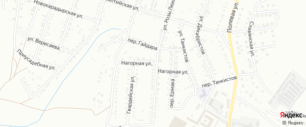 Нагорная улица на карте Магнитогорска с номерами домов