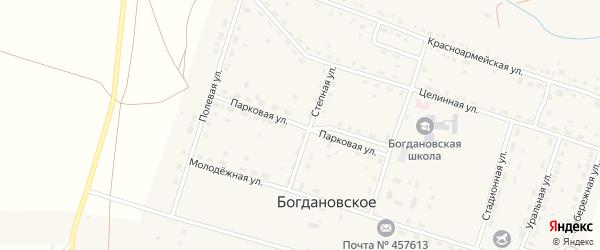 Парковая улица на карте Богдановского села с номерами домов