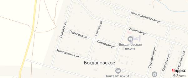 Степная улица на карте Богдановского села с номерами домов
