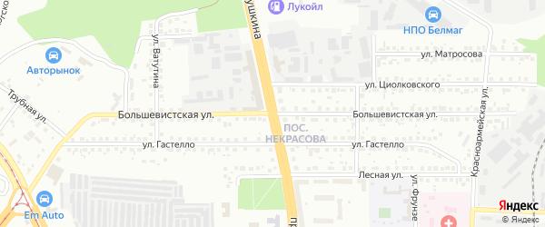 Большевистская улица на карте Магнитогорска с номерами домов