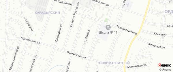 Улица Чехова на карте Магнитогорска с номерами домов