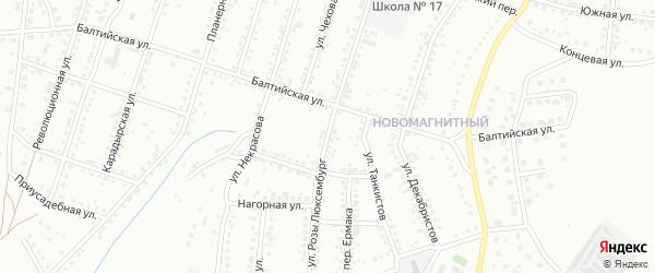 Улица Розы Люксембург на карте Магнитогорска с номерами домов