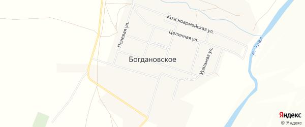 Карта Богдановского села в Челябинской области с улицами и номерами домов