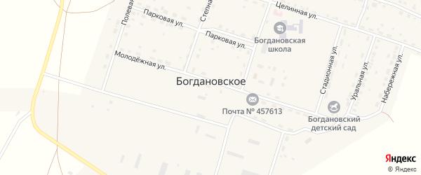 Красноармейская улица на карте Богдановского села с номерами домов
