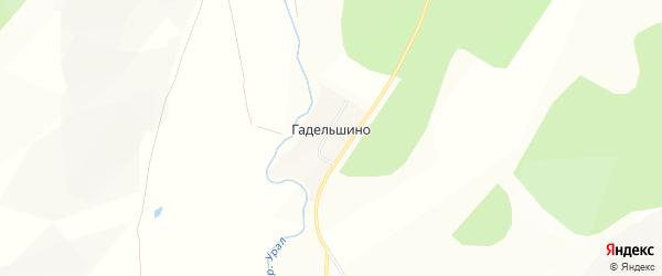 Карта деревни Гадельшино в Башкортостане с улицами и номерами домов