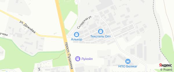 Улица Левобережная складская зона линия 2 на карте Магнитогорска с номерами домов