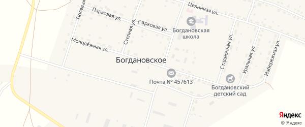Молодежная улица на карте Богдановского села с номерами домов