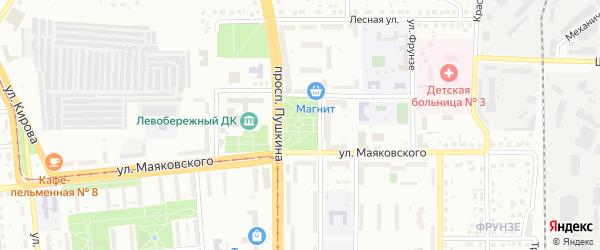 Площадь Победы на карте Магнитогорска с номерами домов