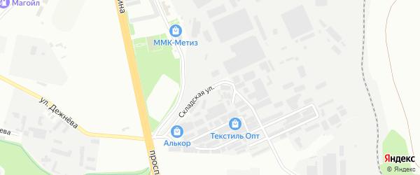 Складская улица на карте Магнитогорска с номерами домов