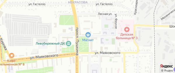 Улица Рубинштейна на карте Магнитогорска с номерами домов