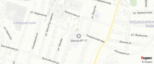 Тихвинский переулок на карте Магнитогорска с номерами домов