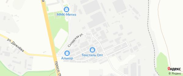 Улица Левобережная складская зона линия 1 на карте Магнитогорска с номерами домов