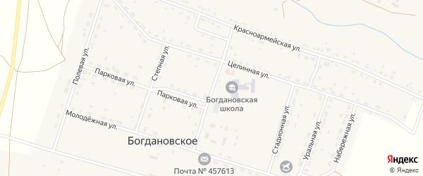 Улица Мира на карте Богдановского села с номерами домов