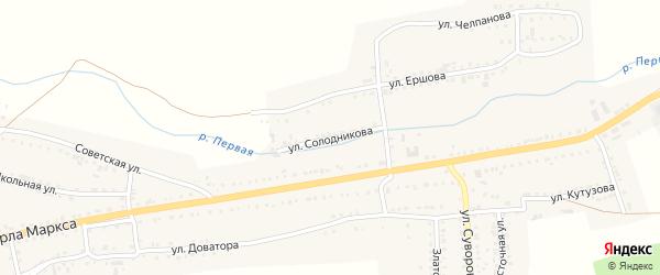 Улица Солодникова на карте Сатки с номерами домов