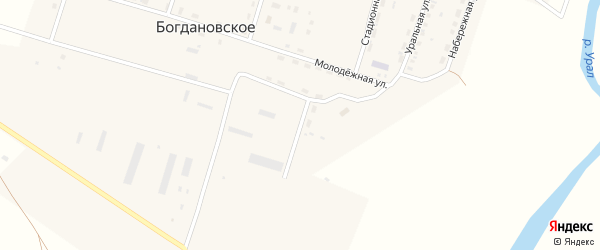 Улица Механизаторов на карте Богдановского села с номерами домов