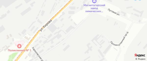 Улица Электросети на карте Магнитогорска с номерами домов