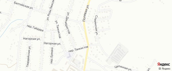 Полевая улица на карте Магнитогорска с номерами домов