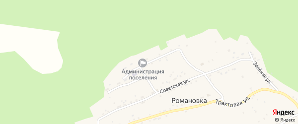 Школьная улица на карте села Романовки с номерами домов