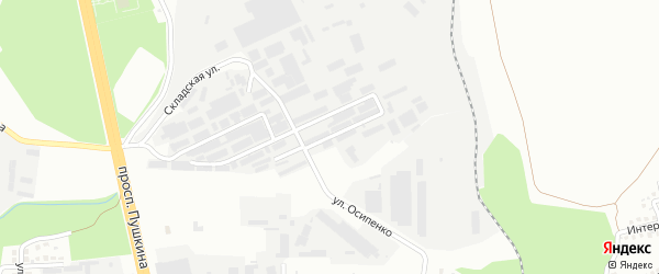 Улица Левобережная складская зона линия 4 на карте Магнитогорска с номерами домов