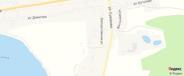 Улица Есенина на карте Сатки с номерами домов