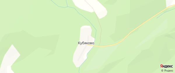 Карта деревни Кубяково в Башкортостане с улицами и номерами домов
