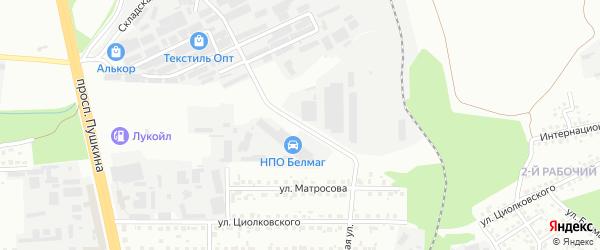 Улица Осипенко на карте Магнитогорска с номерами домов