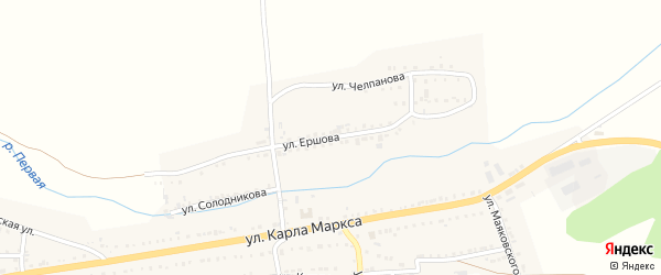 Улица Ершова на карте Сатки с номерами домов