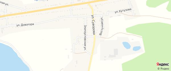 Златоустовская улица на карте Сатки с номерами домов