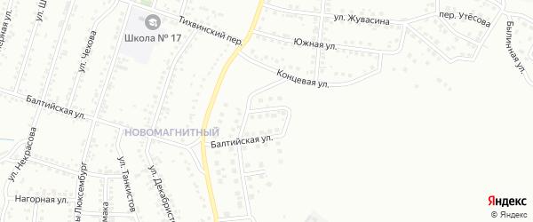 Радонежская улица на карте Магнитогорска с номерами домов