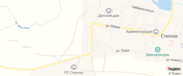 Комсомольская улица на карте Степного села с номерами домов