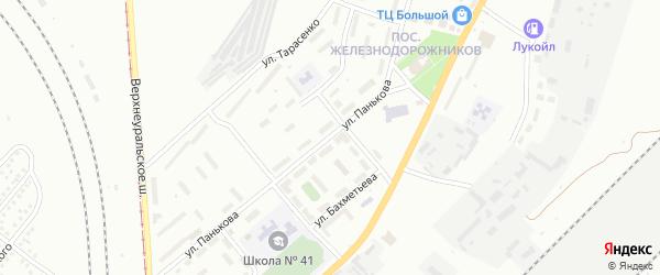 Улица Панькова на карте Магнитогорска с номерами домов