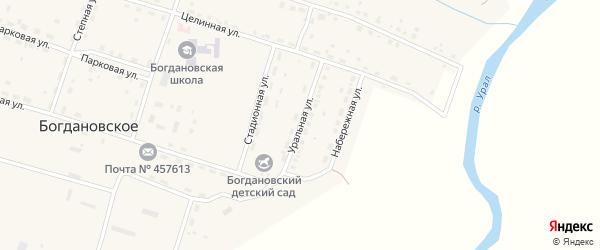 Уральная улица на карте Богдановского села с номерами домов