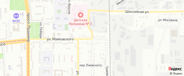 Красноармейская улица на карте Магнитогорска с номерами домов