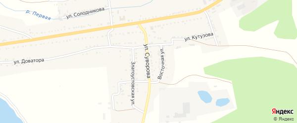 Улица Суворова на карте Сатки с номерами домов