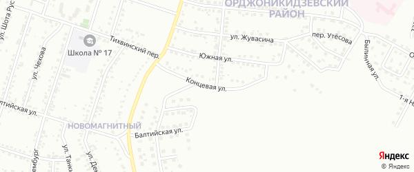 Концевая улица на карте Магнитогорска с номерами домов