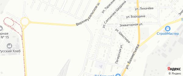 Улица Тарасенко на карте Магнитогорска с номерами домов