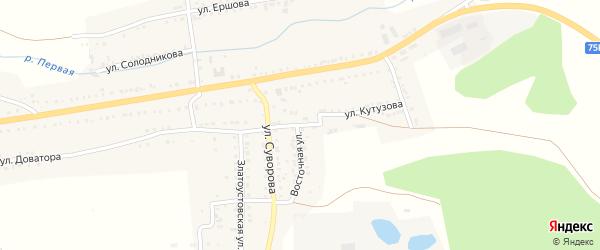Улица Кутузова на карте Сатки с номерами домов
