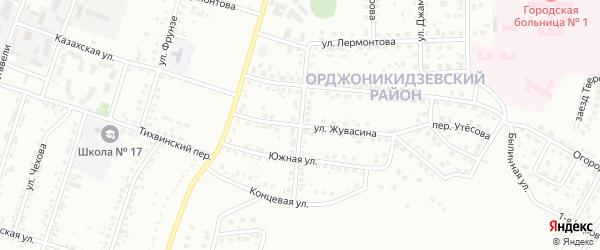 Бородинский переулок на карте Магнитогорска с номерами домов