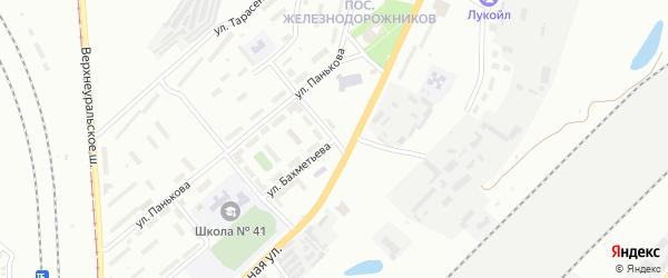Улица Бахметьева на карте Магнитогорска с номерами домов