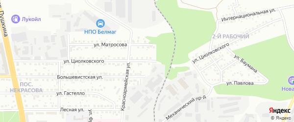 Улица Циолковского на карте Магнитогорска с номерами домов