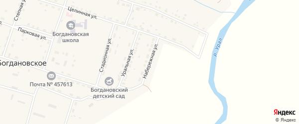 Набережная улица на карте Богдановского села с номерами домов