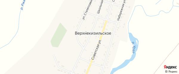 Школьная улица на карте Верхнекизильского села с номерами домов