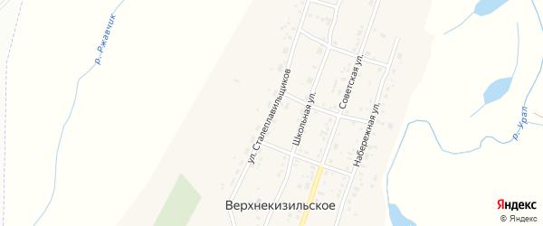 Улица Сталеплавильщиков на карте Верхнекизильского села с номерами домов
