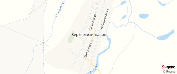 Карта Верхнекизильского села в Челябинской области с улицами и номерами домов