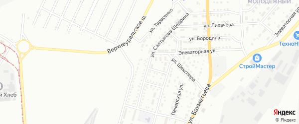 Улица Салтыкова-Щедрина на карте Магнитогорска с номерами домов