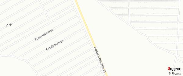 Холмогорское шоссе на карте Магнитогорска с номерами домов