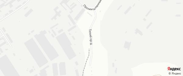 Тихий проезд на карте Магнитогорска с номерами домов