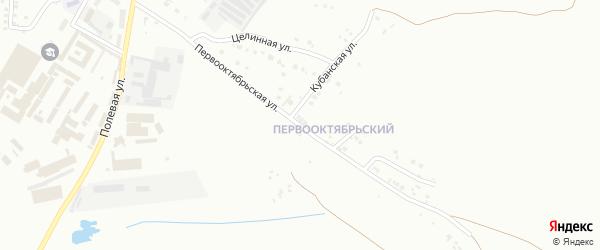 Первооктябрьская улица на карте Магнитогорска с номерами домов
