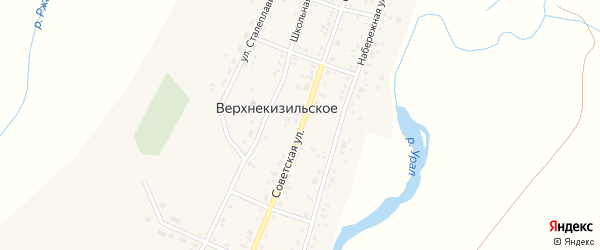 Советская улица на карте Верхнекизильского села с номерами домов