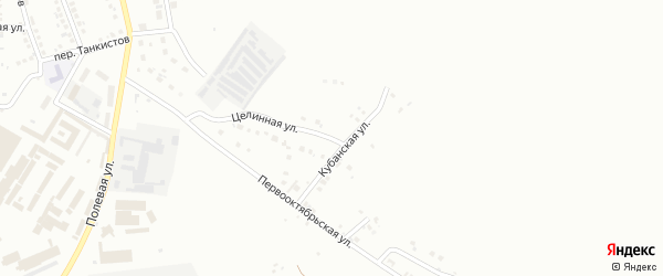 Целинная улица на карте Магнитогорска с номерами домов